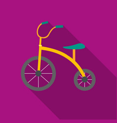tricycle icon in flat style isolated on white vector image
