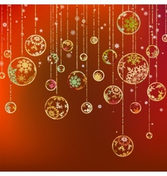 Vintage card with Christmas balls EPS 8 vector image vector image