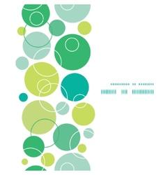 Abstract green circles vertical frame seamless vector