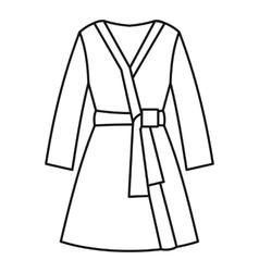 Bathrobe icon outline style vector