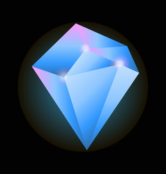big precious diamond vector image