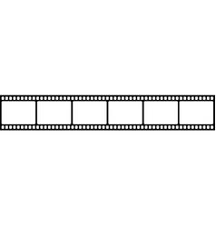 Blank cinema film strip vector