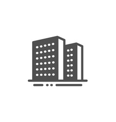 Buildings icon city apartments sign architecture vector
