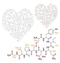 chemistry love vector image