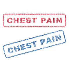 chest pain textile stamps vector image