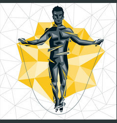 cross fit new man 07 vector image