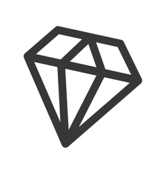 Diamond fantasy isolated icon vector