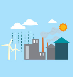 different renewable energy sources on white vector image
