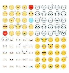 Emoticons Big Set vector image
