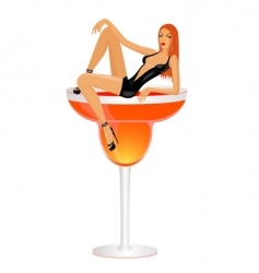 fashion cocktail vector image