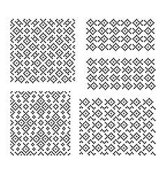 Fishes seamless geometrical patterns vector image