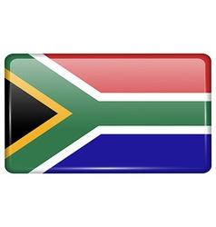 Flags South Africa in the form of a magnet on vector