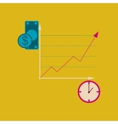 Flat web icon on stylish background time money vector image