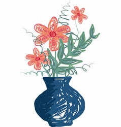 Flovers in a vase vector