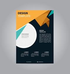 flyer brochure design template business vector image