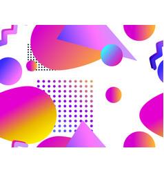geometric seamless pattern with liquid gradient vector image