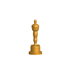 Gold statue award concept isolated on white vector