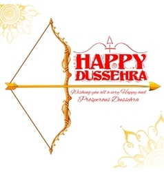Happy Dussehra festival of India background vector