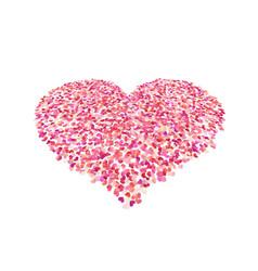 Heart shape color confetti valentines petals top vector
