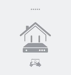 home web router - web icon vector image