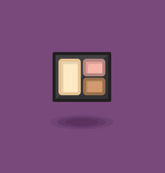 icon compact eye shadow three pastel colors vector image