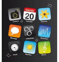 Icons vibrant vector