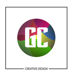 initial gc letter logo template design vector image