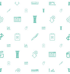 interface icons pattern seamless white background vector image