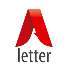Logo red letter A in the form of a tape vector
