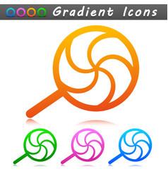 lollipop symbol icon design vector image