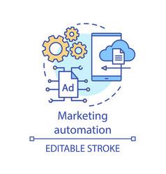Marketing automation concept icon digital vector