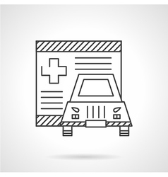 Medical insurance line icon vector