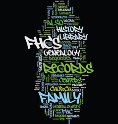 mormon genealogy text background word cloud vector image