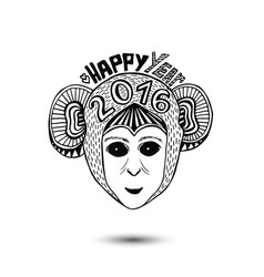 New year of monkey 2016 print design vector