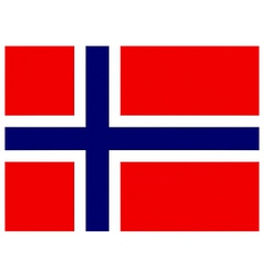 norwegian flag vector image