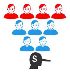 Ponzi pyramid manager icon vector