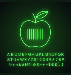 Product barcode neon light icon vector