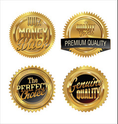quality gold medals vector image