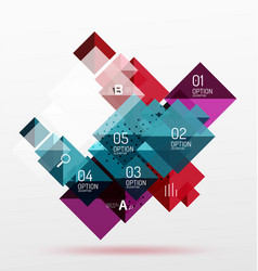 repetition of overlapping color squares vector image