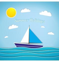 Retro summer vector image