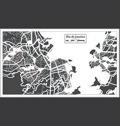 Rio de janeiro brazil city map in retro style vector