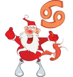 Santa Claus Astrological Sign in Zodiac Cancer vector