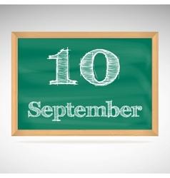 september 10 day calendar school board date vector image