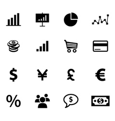 set economy and finance related icons vector image