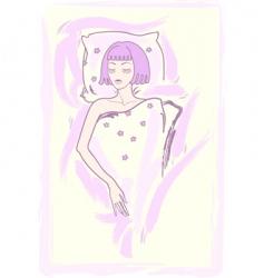 sleeping girl vector image vector image