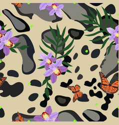 smoky leopard skin seamless pattern combined with vector image