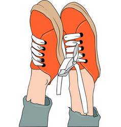 sneakers on white background vector image