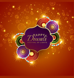 Sparkling diwali festival sale background with vector