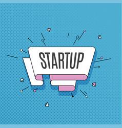 startup retro design element in pop art style on vector image vector image