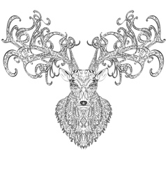 Stylised deer vector image